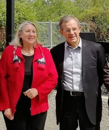 Joëlle Mélin et Thierry Mariani dans la Drôme Ralph Horvath