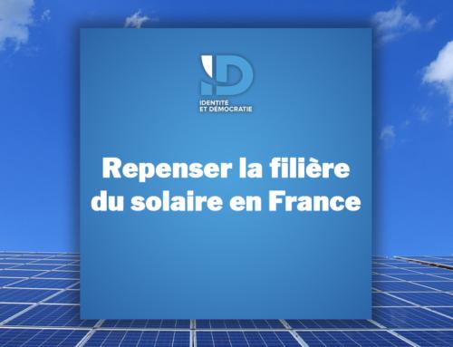 Repenser la filière du solaire en France