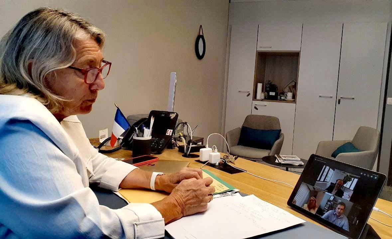 Echange entre Joëlle Mélin et les représentants des COPA COGECA