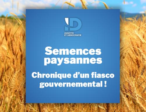 Semences paysannes: Chronique d'un fiasco gouvernemental!