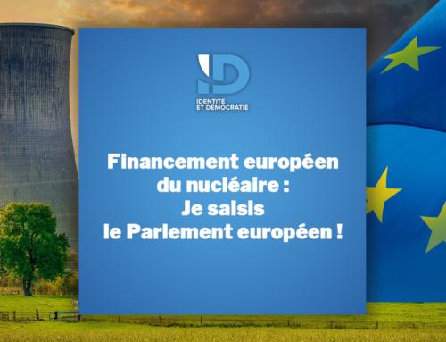Financement européen du nucléaire : je saisis le Parlement européen !