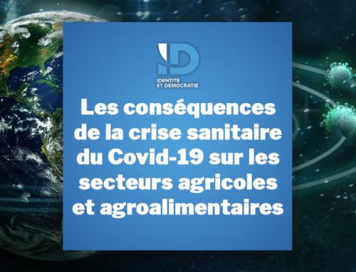 Les conséquences de la crise sanitaire du Covid-19 sur les secteurs agricoles et agroalimentaires