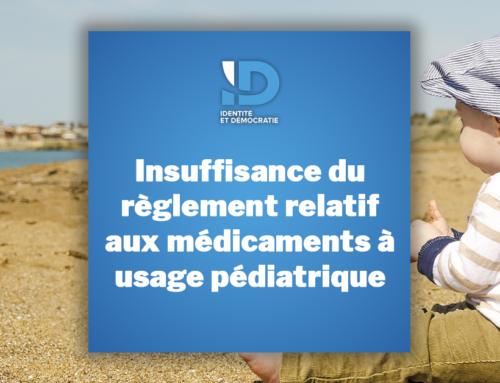 Insuffisance du règlement relatif aux médicaments à usage pédiatrique