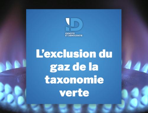 L'exclusion du gaz de la taxonomie verte