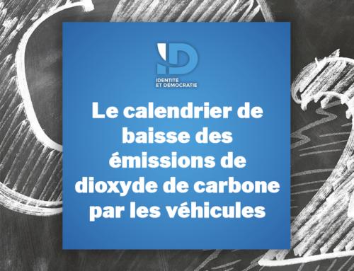 Le calendrier de baisse des émissions de dioxyde de carbone par les véhicules