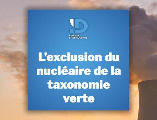 L'exclusion du nucléaire de la taxonomie verte