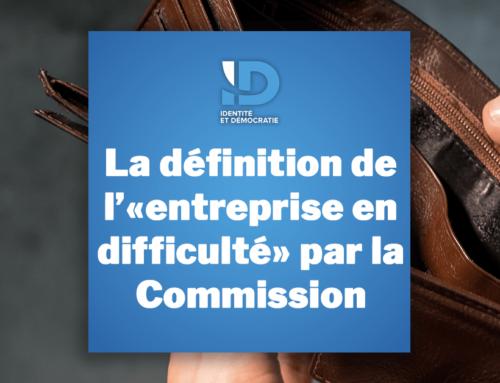 La définition de l'«entreprise en difficulté» par la Commission