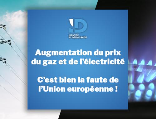Augmentation du prix du gaz et de l'électricité : C'est bien la faute de l'Union européenne !